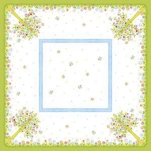 MANK Airlaid Tischdecke Insa, 80 x 80 cm, 20 Stück - Einmal-Mitteldecke Sommerwiese Floral Frühling