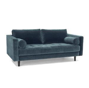 Sofa 2-Sitzer samt petrol 184 cm Merini