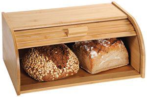 Kesper Großer Brotkasten aus Bambus mit Rollklappe, 40 x 27 x H17 cm, Frischhaltebox, Brotbox,