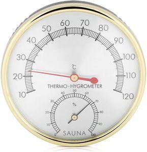 Sauna Room Thermometer, Indoor Hygrometer-Thermometer Metal Dial Thermometer for Sauna Room