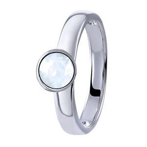 Silberring weißen Opal -  58