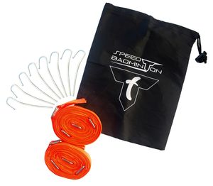 Talbot-Torro Speed-Badminton Court Lines, Spielfeldmarkierung 5,5m x 5,5m, verpackt im Blister, Neon-Orange