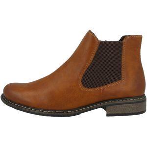Rieker Damen Z4994 Stiefeletten Chelsea Boots , Größe:41 EU, Farbe:Braun