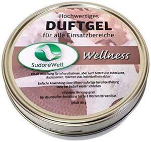 SudoreWell Duftgel 'Wellness' für Sauna, Infrarotkabine und Badezimmer, 80g Dose