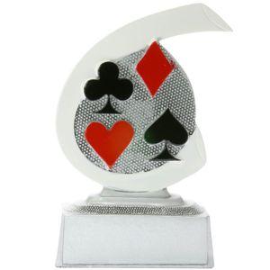Karten Skat Poker Pokal ARLES Trophäe Preis 10 cm hoch Minipokal