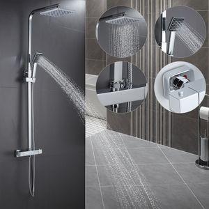 Duschset Duschpaneel Duschsystem Überkopfbrause Duschsäule Thermostat Dusche SET