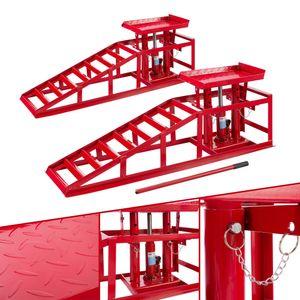 2x AREBOS Auffahrrampe Hebebühne höhenverstellbar - direkt vom Hersteller