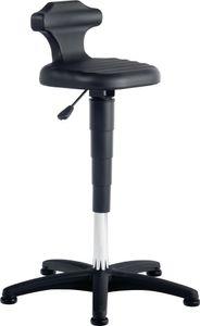 Bimos Sitz-Stehstuhl Flex mit Gleitern und Rückenstütze Integralschaum Sitz-Höhe 510-780mm - 9409-2000