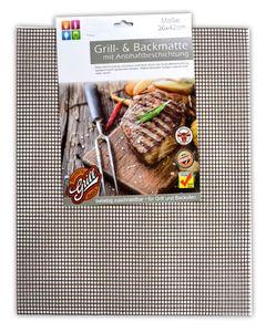 BBQ Grillmatte Antihaft Dauer Grillmatten | Glasfaser Grillunterlage | Bratfolie Grill Unterlage Backmatte