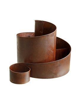 Kräuterspirale Rost Braun Metall Kräutertreppe XL