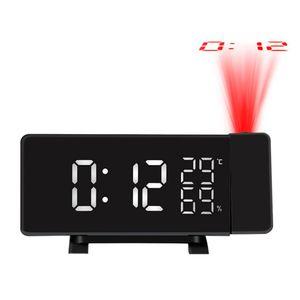Projektionswecker Feuchtigkeit, Temperatur, Weckerfunktion Funk-Wecker Mit Projektion, Automatische Zeitanpassung