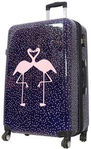 Koffer XL Flamingo  77x51x30cm Hartschale Reise Trolley + 20% Erweiterbar mit Dehnfalte Bowatex