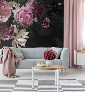 MyMaxxi -  Premium Vlies Fototapete Rosen Tapete, Wand Dekoration, Blumen, Strauß, Flower, Mehrfarbig -280 x 260 cm, 4 Teile  Bildtapete XXL Landschaft Bild Natur