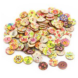 Oblique Unique 100x Holz Knöpfe Blumen Kinderknöpfe Buttons Nähen Kleidung Basteln