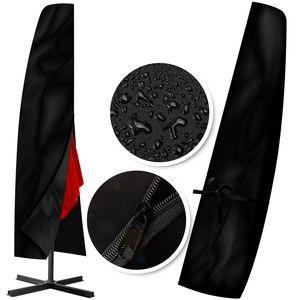 KESSER® Schutzhülle Schirmhaube Abdeckung Sonnenschirm Schutzhülle Haube 3m Ø, Farbe:Abdeckung Black