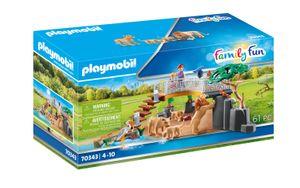 PLAYMOBIL Family Fun 70343 Löwen im Freigehege