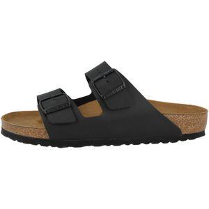 BIRKENSTOCK Arizona Pantoletten Schwarz Schuhe, Größe:45