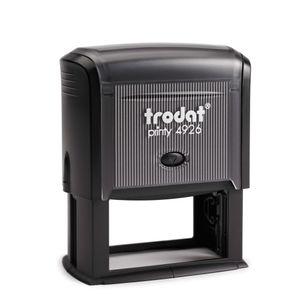 Trodat PRINTY 4926, max. 10zeilig, 75X38 mm, Gehäuse schwarz, individuelle Stempelplatte mit Ihrem Wunschtext, Stempelkissen schwarz