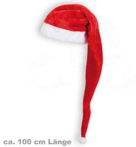 Kostüm Zubehör lange Edel Nikolausmütze Weihnachtsmütze