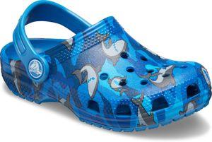 crocs Classic Shark Clog Kids Prep Blau Croslite Größe: 29/30 Normal