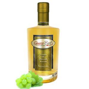 Grappa di Moscato Riserva 0,5L holzfaßgereift aromatisch & sehr mild 40%Vol.