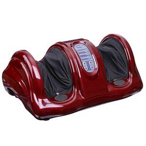 Elektrisch Fußmassagegerät  Bein Shiatsu Fussmassagegeraet Mit Wärmefunktion Rot