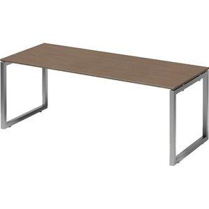 Bisley Schreibtisch CITO O 2000x740x800mm silber/nußbaum