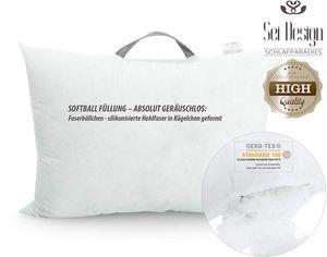 sei Design Kissenfüllung - antiallergisch & Kochfest - 1000g Faserbällchen, Schadstoff
