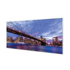 Glasbilder 100x50 Wandkunst Die meisten Wolkenkratzer Sonnenuntergang