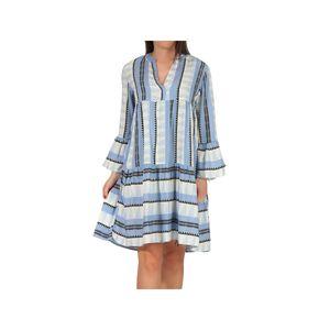Hailys Damen Kleid Sn-2007011no.4207 Blue Diverse