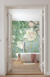 """Komar Vlies Fototapete """"Rose Poem"""" - Größe: 200 x 250 cm (Breite x Höhe), 4 Bahnen"""