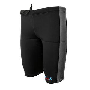 Herren Damen 3mm Neoprenanzug Neoprenhose Neopren Shorts Schwimmhose kurze Surfhose Wassersport XL Grau und Schwarz