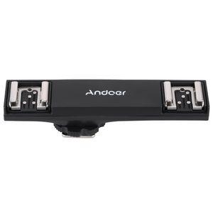 Andoer Dual-Blitzschuh Flash Speedlite Bracket Splitter fuer Nikon D750 D7200 D7100 D7000 D800 D810 D600 DSLR Kamera Camcorder