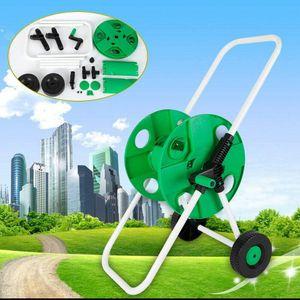 Professionelle Schlauchwagen Set Gartenschlauch Gartenarbeiter Bewässerung Wasserrohr für 50m Schlauchtrommel 87cm hoch mit Kupplung
