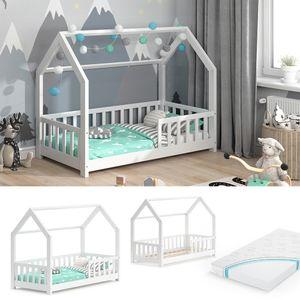 VitaliSpa Kinderbett Hausbett Spielbett Wiki 80x160cm Matratze Rausfallschutz