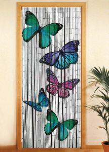 Bambusvorhang Schmetterlinge
