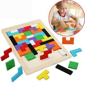 Kinder Baby Tangram Holzpuzzle Steckpuzzle Holzspielzeug Lernspiel Lernspielzeug