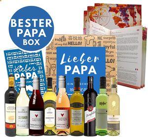 Weinweltreise speziell für Männer Väter Opa I 9 Weine aus aller Welt zum Vatertag - Bester Papa Geschenkidee Weine probieren