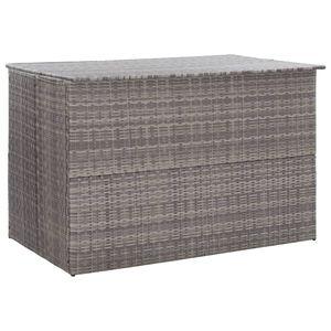 vidaXL Gartenbox Grau 150x100x100 cm Poly Rattan
