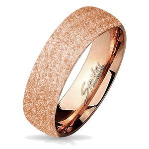 viva-adorno Gr. 55 (17,5 mm Ø) Damen & Herren Edelstahl Ring Partnerring Verlobungsring mit diamantierter Glitzer Oberfläche RS56 roségold,
