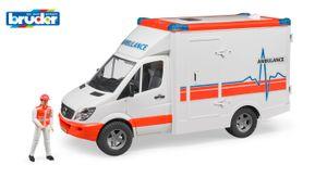 Bruder MB Sprinter Ambulanz mit Fahrer; 2536
