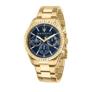 Maserati Herren Uhr, COMPETIZIONE Kollektion, Quarzwerk, Multifunktion, aus Edelstahl, Gelbgold PVD - R8853100026