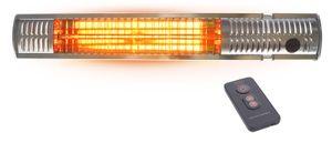 Edelstahl Infrarot-Heizstrahler 2000 Watt inkl. Fernbedienung mit Dimmer