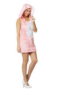 Damen Kostüm sexy Kleid Hase in rosa Karneval Fasching Gr.40
