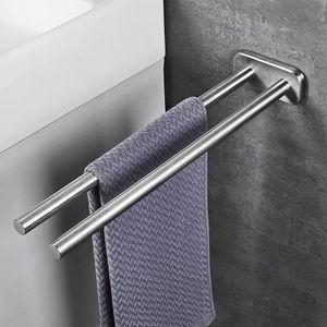 Handtuchhalter Edelstahl Gebürstet Bad Handtuchstange Zweiarmig Wandmontage Badezimmer handtuchhalter 40cm