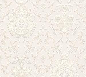 A.S. Création Strukturprofiltapete Belle Epoque Tapete weiß 10,05 m x 0,53 m 538062 5380-62