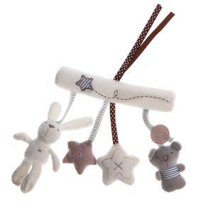 Rassel Hängen Spielzeug Kinderwagen Kaninchen \\u0026 Bär Bunny Plüsch Hängen Spielzeug Für Baby