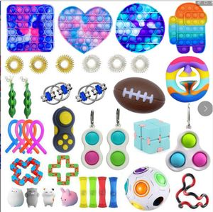 37X Pop It Fidget Toy Set Autismus SEN ADHS Fidget Stressabbau Spielzeug