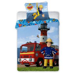 Feuerwehrmann Sam - Kinder Bettwäsche Set  100x135 Decke 40x60 Kissen Baby