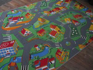 Kinder Spiel Teppich Straßenteppich Straße Stadt multi grau Spielen und Lernen verschiedene Abmessungen erhältlich.